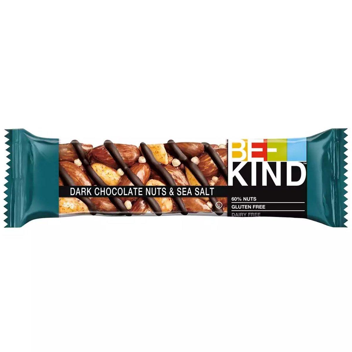 BE-KIND Dark Chocolate Nuts & Sea Salt (40g) 1